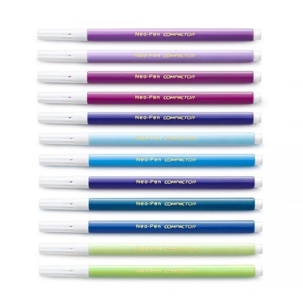 canetas finas neo pen compactor