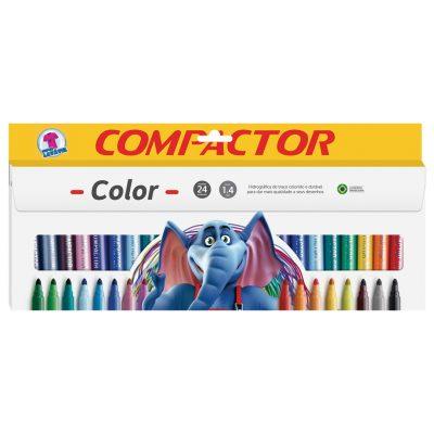 canetas color 24 cores compactor