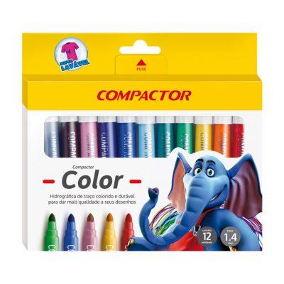canetas color compactor 12 unidades