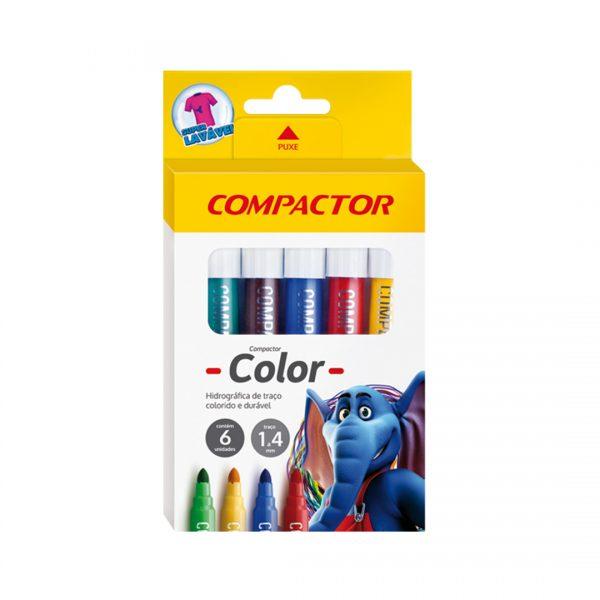 caneta color compactor 6 unidades