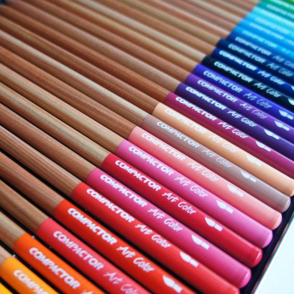 cores lápis de cor compactor aquarela