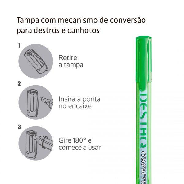 informações marcador texto destaq verde