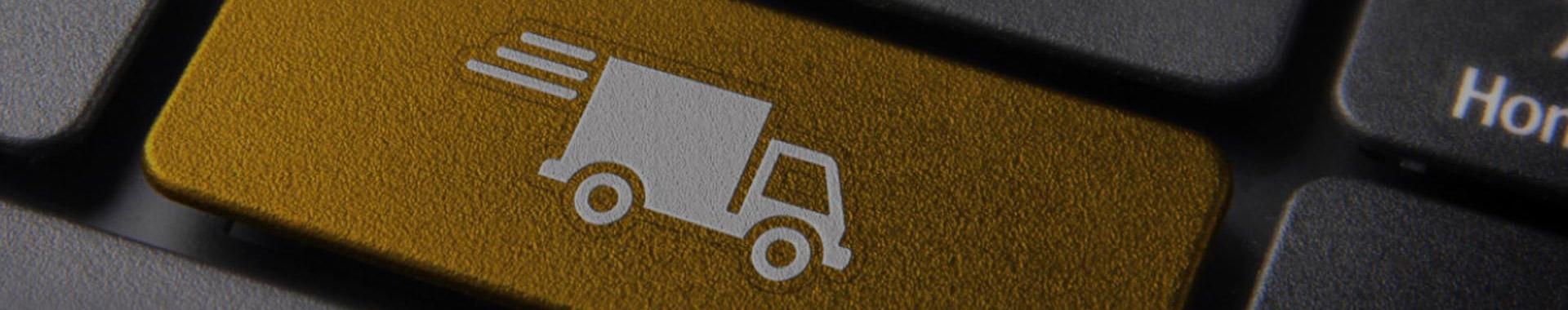 botão com desenho de caminhão
