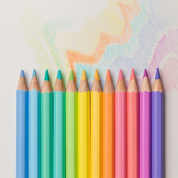 lápis de cor art color pastel 12 cores