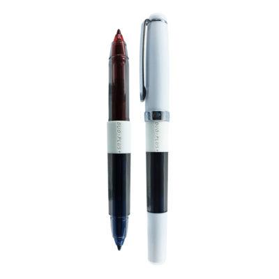 caneta duo plus branca