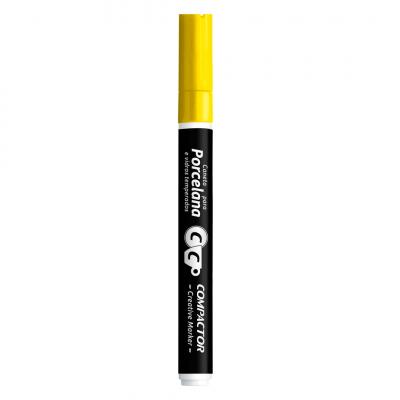 caneta porcelana amarela