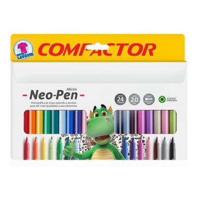 caneta mirim neo pen 24 cores