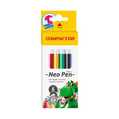 caneta mirim neo pen 6 cores