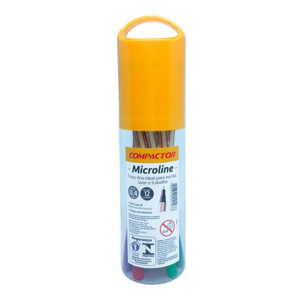 microline 0.4mm estojo 12 cores