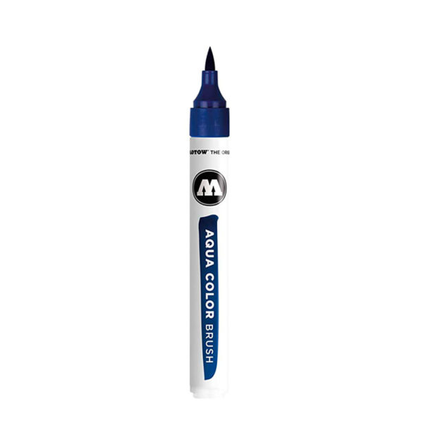 aqua color brush azul