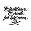 escrita com caneta blackliner brush