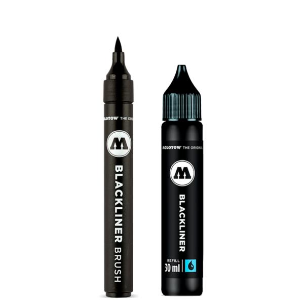 caneta blackliner brush com refil