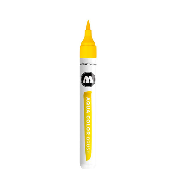 aqua color brush amarelo