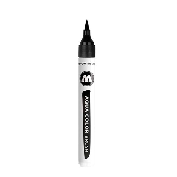 aqua color brush black