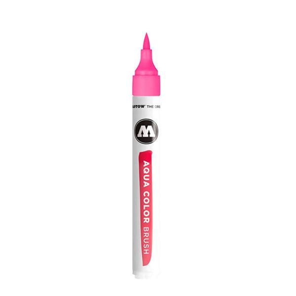 aqua color brush pink