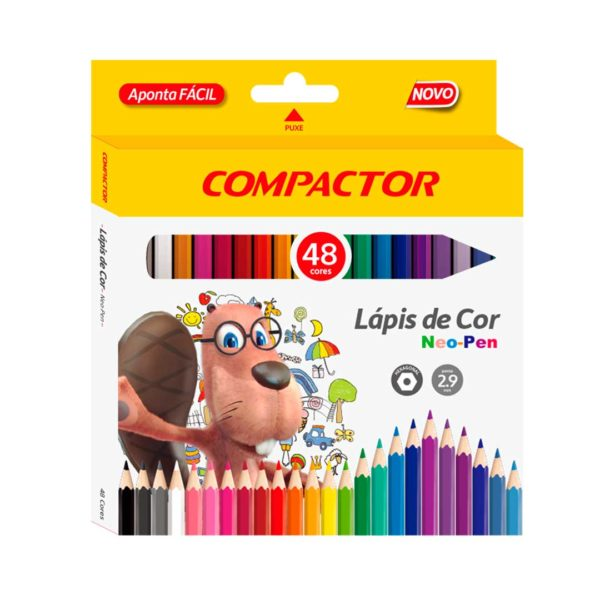 lapis de cor compactor 48 cores