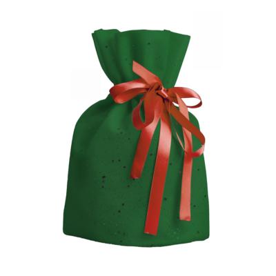 embalagem para presente verde e vermelho pequena fechada