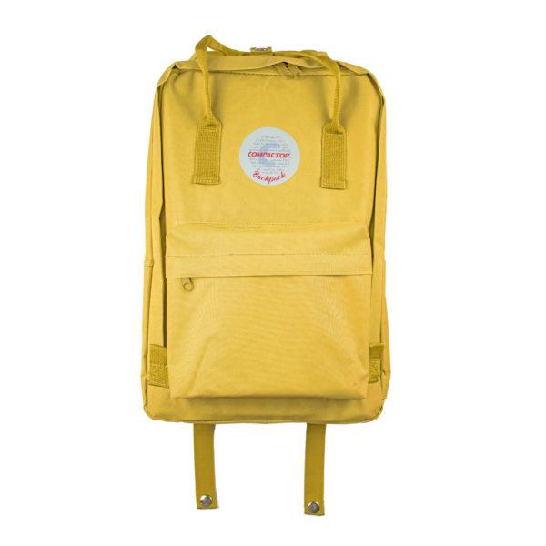 mochila amarela compactor frontal