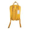 mochila amarela visão costas